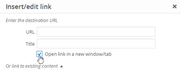 Open external links in a new window