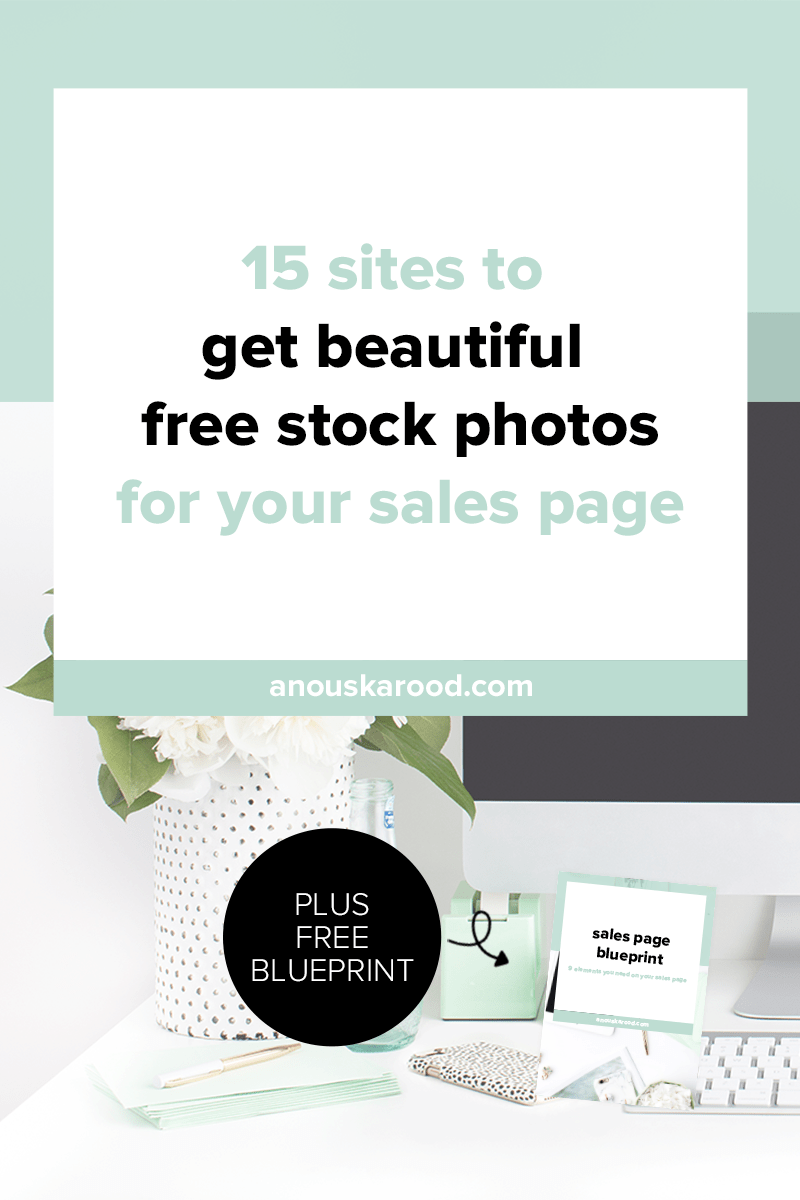 High quality photos instantly make your site look more pro. Click through for 15 sites to get beautiful free photos for your sales page.