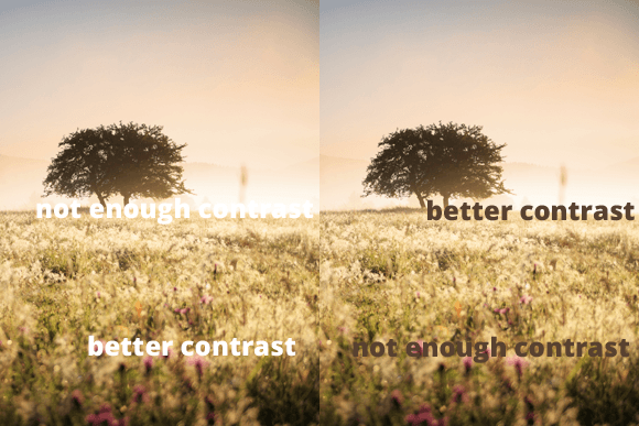 Text on Images: Contrast