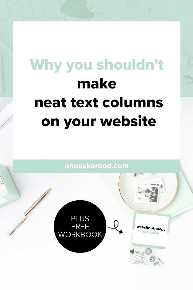 Do you want to make neat text columns on your website? There's a difference between reading on screen and print, click through to find out why you shouldn't make neat text columns on your site.