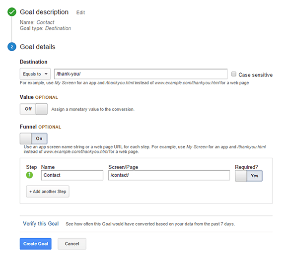 Google Analytics: Setting Up Goals