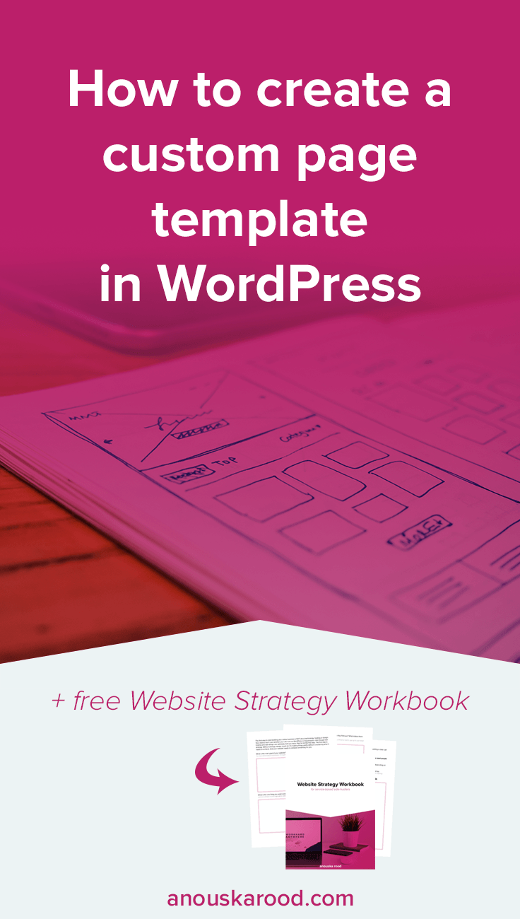 How To Create A Custom Page Template In WordPress Anouska Rood - Sales page template wordpress