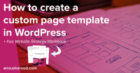 How to create a custom page template in WordPress