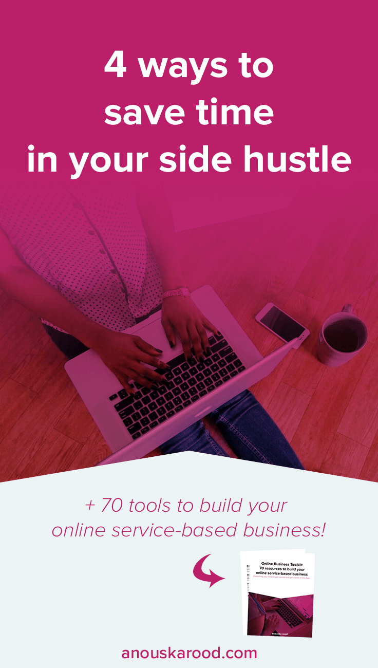 Want to take your side hustle full-time, but feel like you're on a treadmill, no matter how much you do, you're stuck at the starting point? Save time in these 4 ways, so you can spend the valuable time you have available for your side hustle on things that will actually bring in cash.