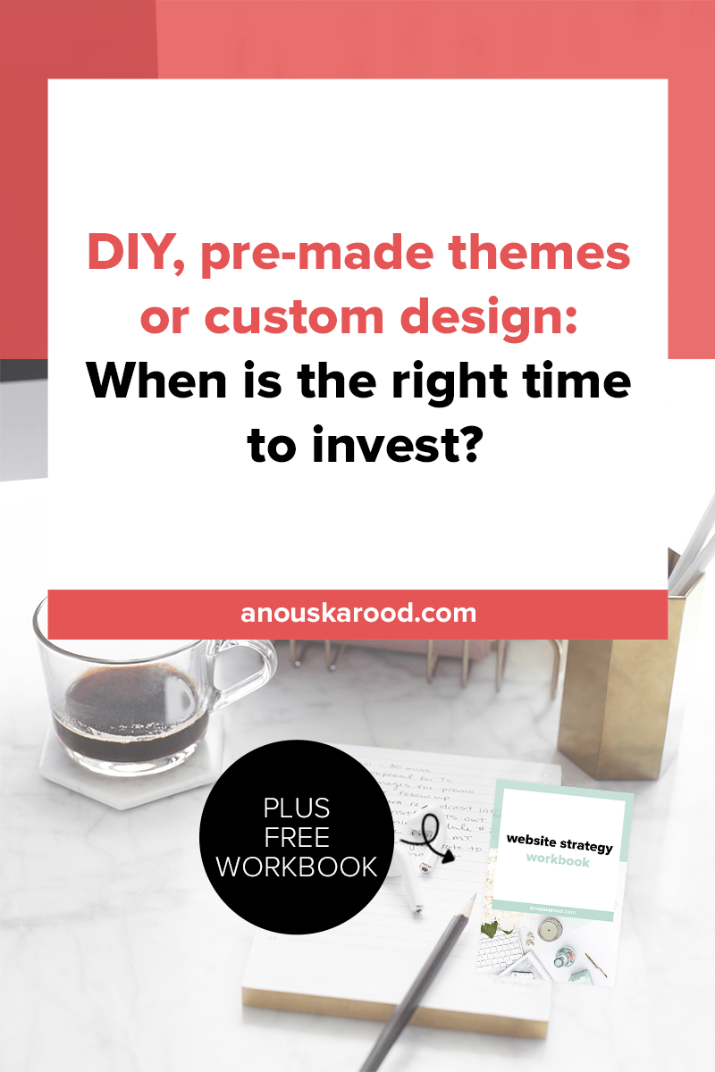 One of the most difficult decisions to make when it comes to web design is if you want to DIY, purchase a pre-made theme, or invest in a custom design. Find out if it's time for you to invest in custom design.