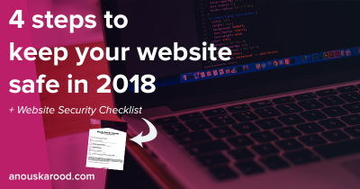 4 steps to keep your website safe in 2018