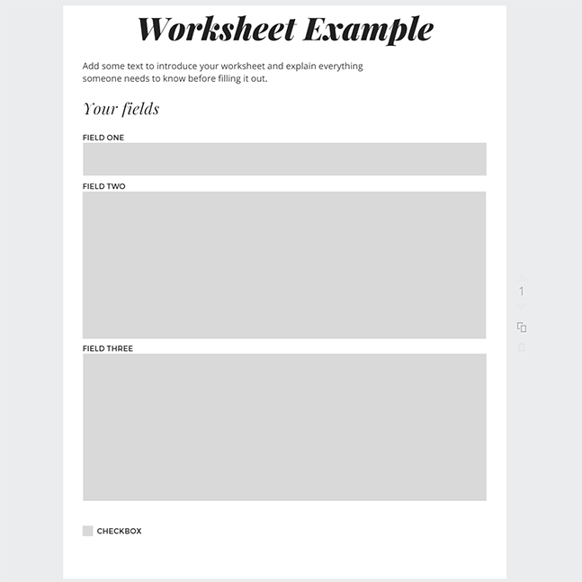 Designing a worksheet in Canva