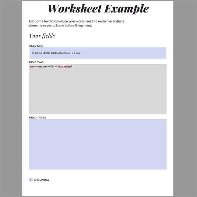 Result: Create fillable PDFs with free online tools