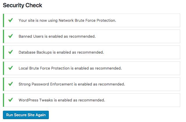 iThemes Security Check